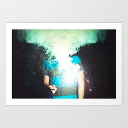 Cloud of Smoke Art Print