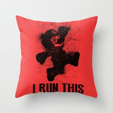 Mario Boss Black Version Throw Pillow