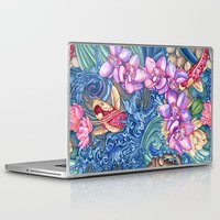 splash Laptop & iPad Skins featuring Orchid Splash by Vikki Salmela
