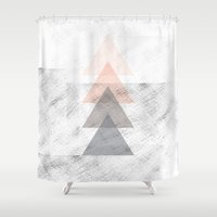 triangles Shower Curtains featuring Triangles by Indiepeek | Marta