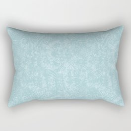 Cave Drawings - Aqua Rectangular Pillow