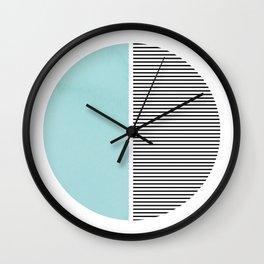 Circle in Aqua Wall Clock