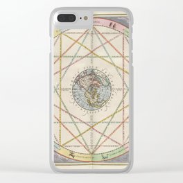 Keller's Harmonia Macrocosmica - Astrological Aspects of the Planets 1661 Clear iPhone Case