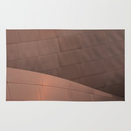 Architectural abstract in copper of the home of the LA Philharmonic. Architect: Frank Gehry Rug