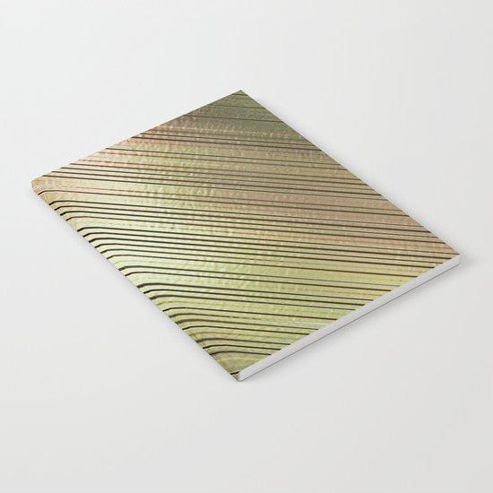 Golden Stripes Notebook