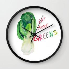 Eat More Greens Wall Clock