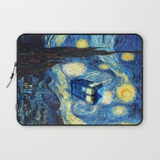 Soaring Tardis doctor who starry night iPhone 4 4s 5 5c 6, pillow case, mugs and tshirt Laptop Sleeve