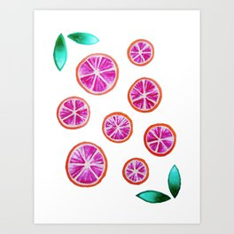 Blood Oranges Art Print