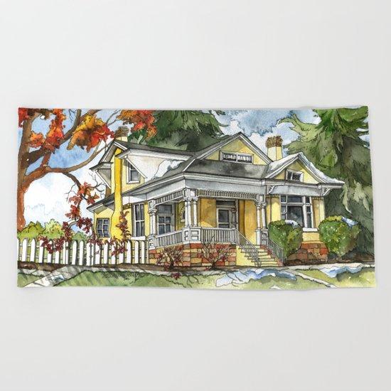 The Autumn House Beach Towel