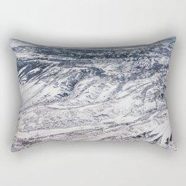 Aerial shot of winter snow mountain Rectangular Pillow