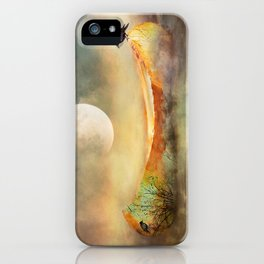 By the Light of the Crow Moon iPhone Case