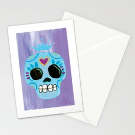 Queen Sugar Skull_Blue Stationery Cards
