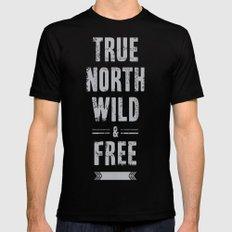 True North Black MEDIUM Mens Fitted Tee