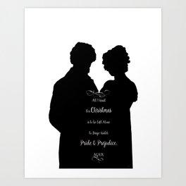 Pride and Prejudice_Xmas gift. Art Print