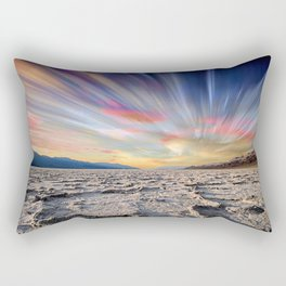 Stopping Time : Colorful Sky Landscape Rectangular Pillow