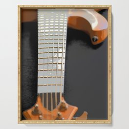 Morphed Portrait of an Electric Bass Serving Tray