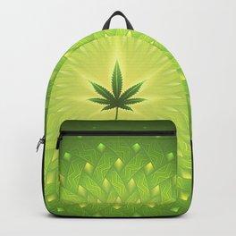 Cannabis. power plant. Sacred geometric mandala Backpack