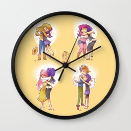 The Art of Hugging Wall Clock