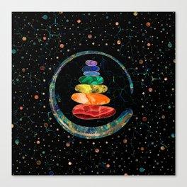 Chakras Zen Stones and Enso circle Canvas Print