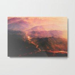 Magma Running Down the Mountain (Volcano) Metal Print