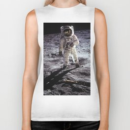 Buzz Aldrin on the Moon Biker Tank