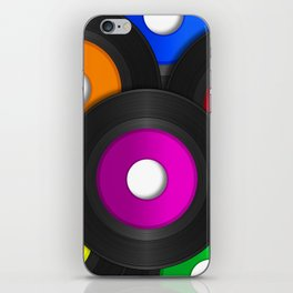45 RPM Records iPhone Skin