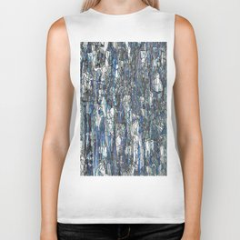 Abstract blue 2 Biker Tank