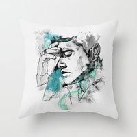 dean winchester Throw Pillows featuring Dean Winchester | Skin by lostinroadsuntravelled