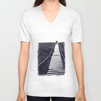 adventure V-neck T-shirts featuring Adventure by Light Wanderer