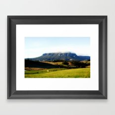 Halo over Mt.Roland. Framed Art Print