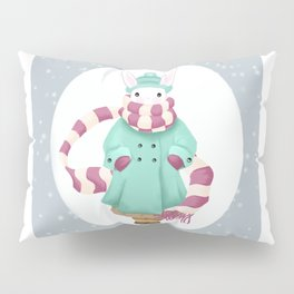 Bunny Sister Out On a Winter Day Pillow Sham