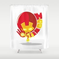 ironman Shower Curtains featuring Ironman by Seez