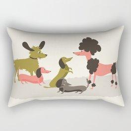 Canine conversations Rectangular Pillow