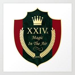24 karat magic in the air (XXIV k song lyrics) Art Print