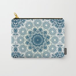 Creamy and blue mandala pattern#4 Carry-All Pouch