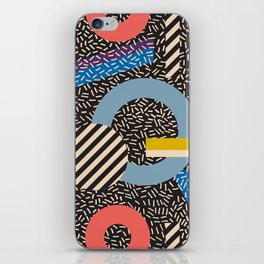 Memphis Inspired Pattern 4 iPhone Skin
