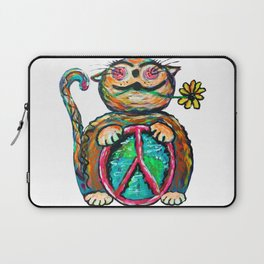 Peace Chubbycat Laptop Sleeve