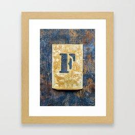 Letter F Framed Art Print