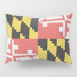 Maryland State Flag Building Block Design Pillow Sham