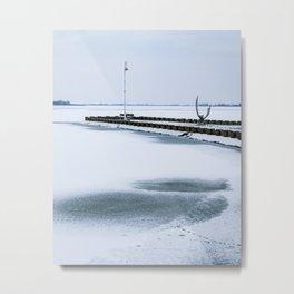 Frozen lake Palic Metal Print