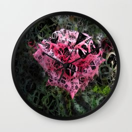Pink Roses in Anzures 6 Letters 4 Wall Clock