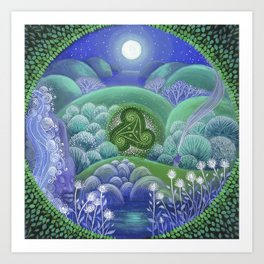 Triskelion Nightly Stillness Art Print