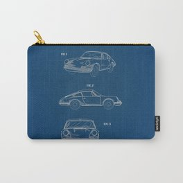 Porsche 911 Blue Patent Carry-All Pouch