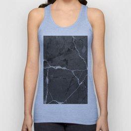 Black minimal marble Unisex Tank Top