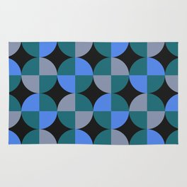 NeonBlu Squares Rug