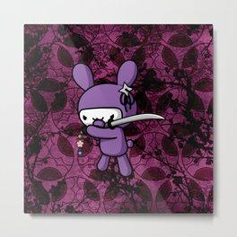 Ninja Bunny Metal Print