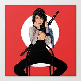 Samurai Warrior Girl - Lubna Canvas Print