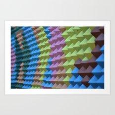 Pyramid Spikes Art Print