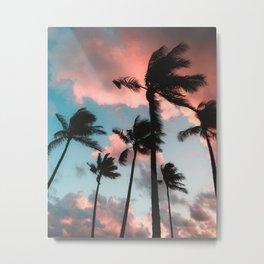 Bubble Gum Palms Metal Print