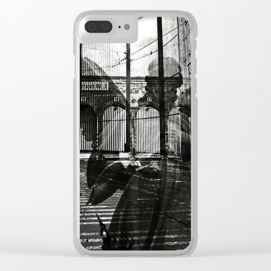 The unexpected arrival of the angels Clear iPhone Case